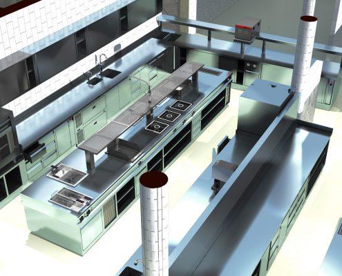 Visualisierung für Großküche